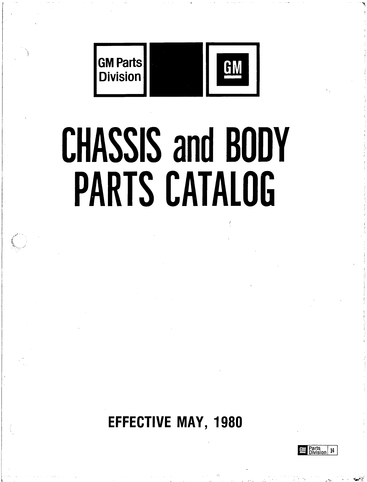 Parts and Accessories Catalog P&A 14 May 1980