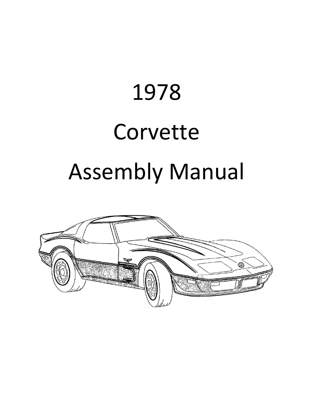 Corvette Assembly Manual January 1978