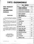 Next Page - New Product Service Information Manual 201 January 1972
